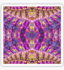 Purple Royale Fractals Geometry Sticker