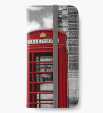 Iconic London: Red Phone Booth iPhone Wallet/Case/Skin