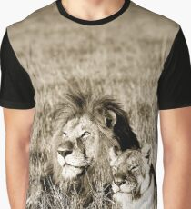 Contented Lion W12 Graphic T-Shirt