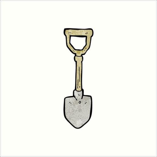 cartoon spade by octoberarts