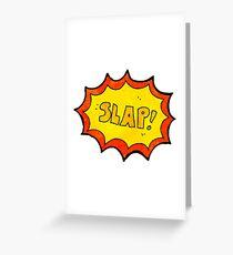 comic book noise cartoon symbol Greeting Card