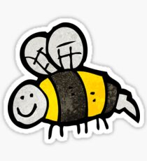 bumble bee doodle Sticker