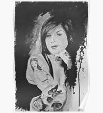 Kat Von in Watercolour Poster