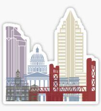 Sacramento skyline poster Sticker