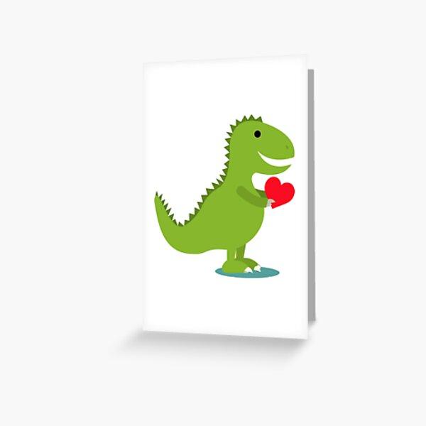 Kids Valentine's Day Gift Idea for Kids - Dinosaur Heart Greeting Card