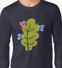 Cute Bugs Eat Green Leaf Long Sleeve T-Shirt