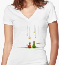 Le Petit Prince Women's Fitted V-Neck T-Shirt