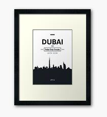 city skyline Dubai Framed Print