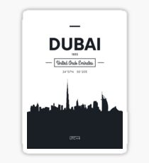 city skyline Dubai Sticker