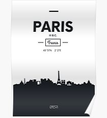 city skyline Paris Poster