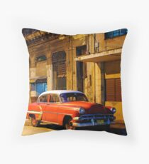 Classic American car at Dawn, Havana, Cuba Throw Pillow