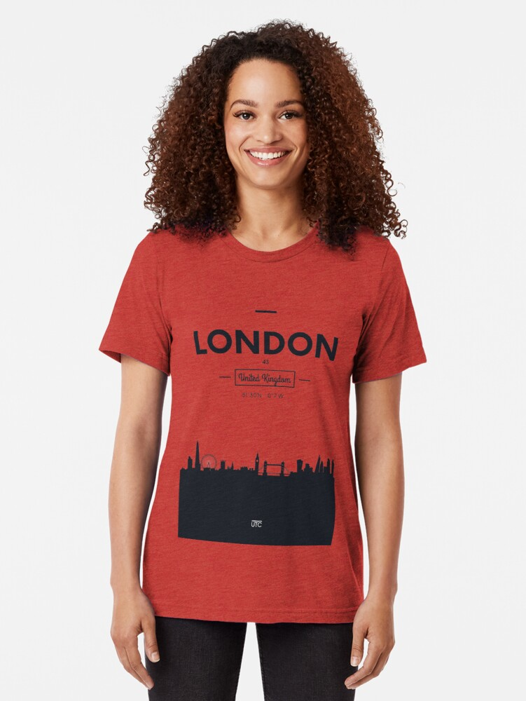 Alternative Ansicht von Skyline der Stadt London Vintage T-Shirt