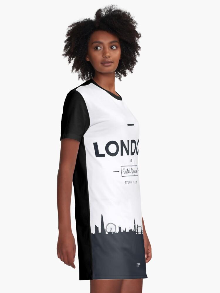 Alternative Ansicht von Skyline der Stadt London T-Shirt Kleid