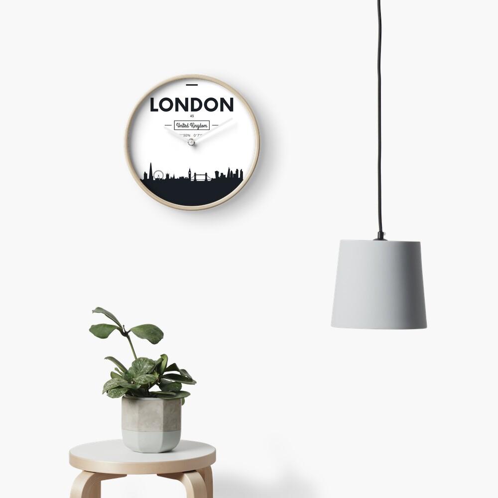 Skyline der Stadt London Uhr