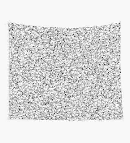 Surveillance Frenzy Wall Tapestry