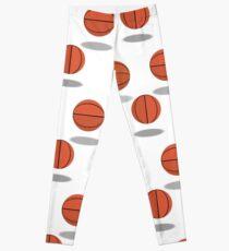 Pattern of Basketballs Leggings