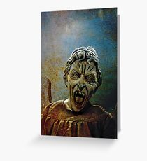The Lonely assassin or weeping Angel Greeting Card