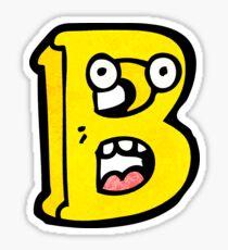 cartoon letter b Sticker