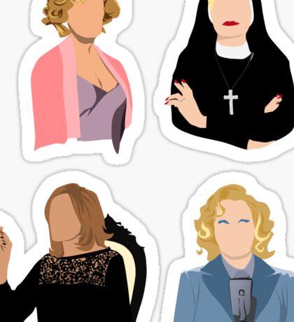 American Horror Story Jessica Lange Seasons 1-4 Sticker