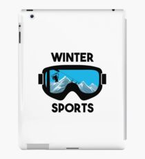 Winter Sports - Snowboarding Skiing  iPad Case/Skin