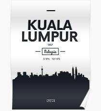 city skyline Kuala Lumpur Poster