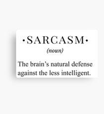 sarcasm funny definition Canvas Print