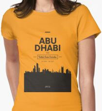 city skyline Abu Dhabi Womens Fitted T-Shirt