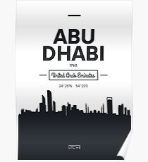 city skyline Abu Dhabi Poster
