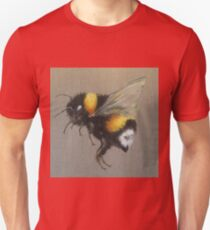 Bumble Bee Oil Painting by Angela Brown Art Unisex T-Shirt