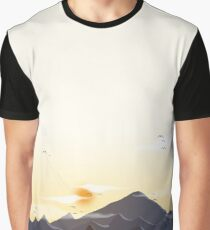 Sunset Vector Graphic T-Shirt