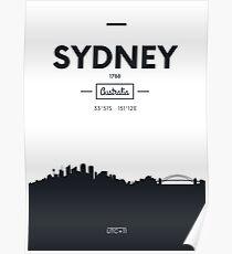 city skyline Sydney Poster