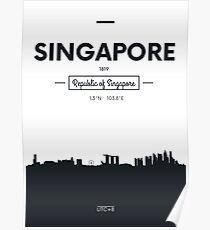 city skyline Singapore Poster