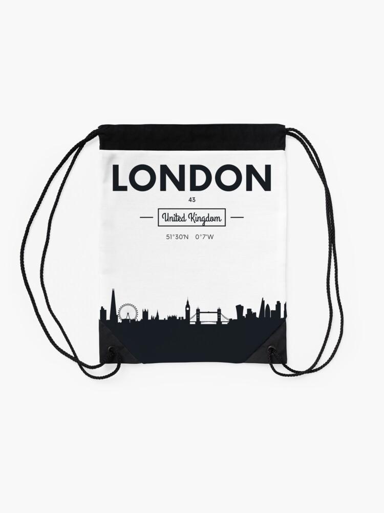 Alternative Ansicht von Skyline der Stadt London Turnbeutel
