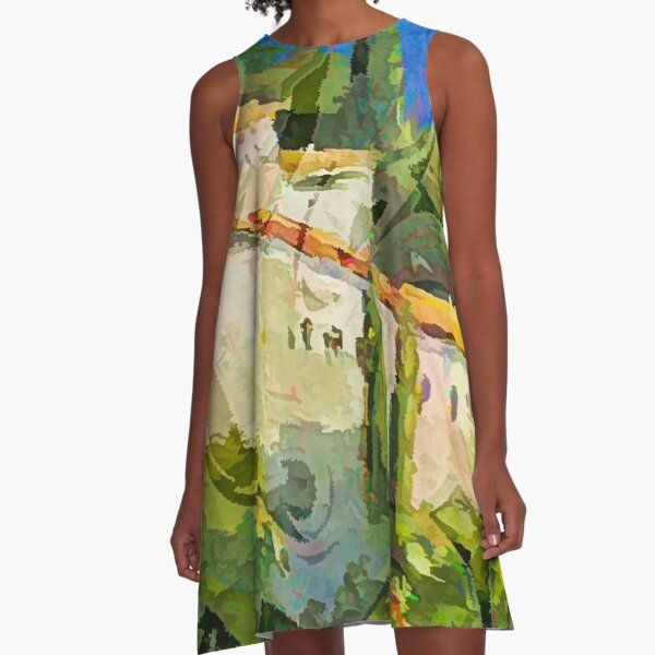 Greek Islands A-Line Dress