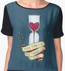 Time for love Women's Chiffon Top