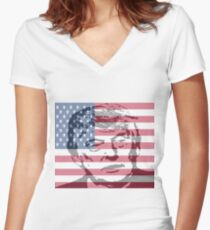 Donald Trump The 45th President of the United States Women's Fitted V-Neck T-Shirt