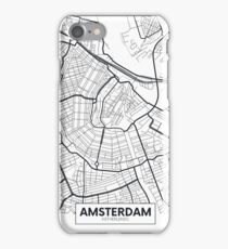 Vector poster map city Amsterdam iPhone Case/Skin