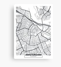 Vector poster map city Amsterdam Canvas Print