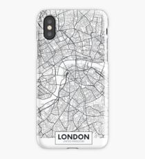 Vector poster map city London iPhone Case