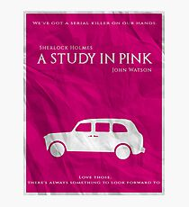 BBC Sherlock - A Study in Pink Photographic Print