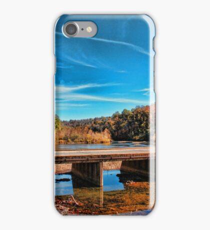 Autumn Low Water Bridge iPhone Case/Skin