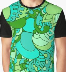 Psychedelisches Muster der Hippies 60s Grafik T-Shirt
