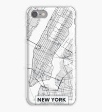 Vector poster map city New York iPhone Case/Skin