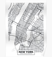 Vector poster map city New York Poster