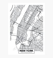 Vector poster map city New York Photographic Print