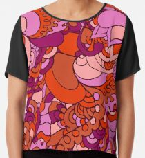 Psychedelisches Muster der Hippies 60s Chiffontop