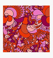 60s hippie psychedelic pattern Photographic Print