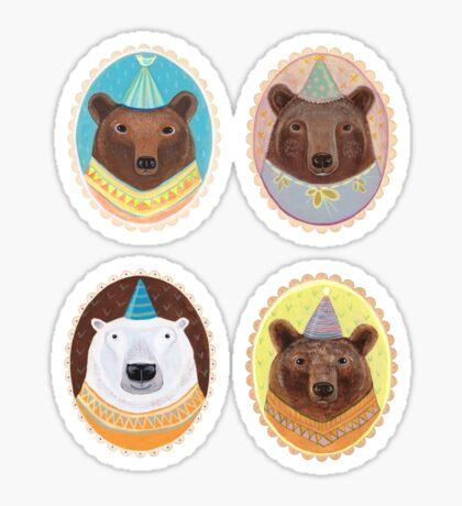 Four Bears Sticker