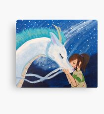 Haku & Chihiro - Dragon Boyfriend Canvas Print