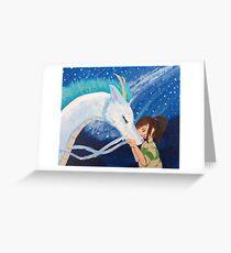 Haku & Chihiro - Dragon Boyfriend Greeting Card